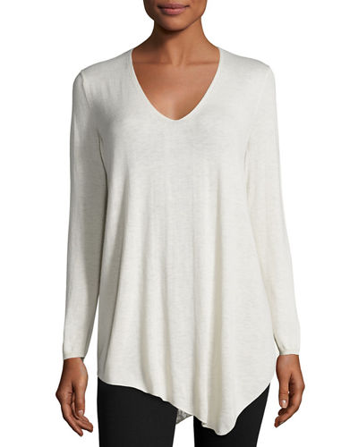 Tambrel B Asymmetric Lace-Back Sweater