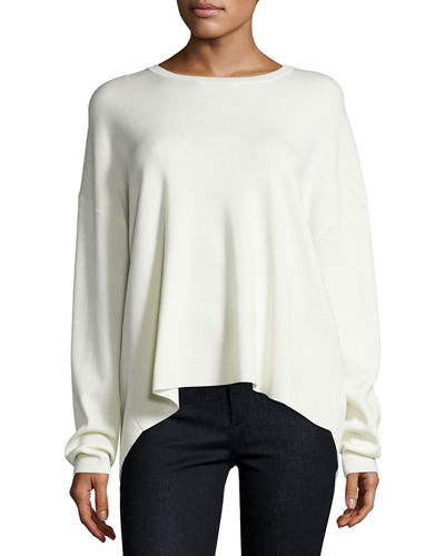 Twylina Refine Flyaway-Back Sweater