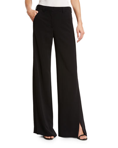 Miles Stretch Crepe Wide-Leg Pants