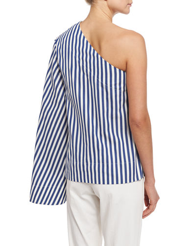 Freja One-Shoulder Boxy Poplin Top