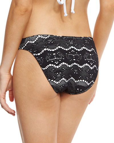 Skull Lace Hipster Swim Bottom