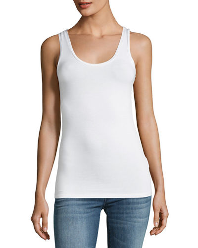 Basic Soft Touch Scoop-Neck Tank