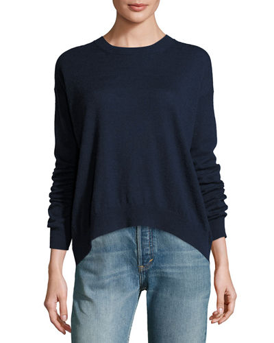Drop-Shoulder Pullover Sweater