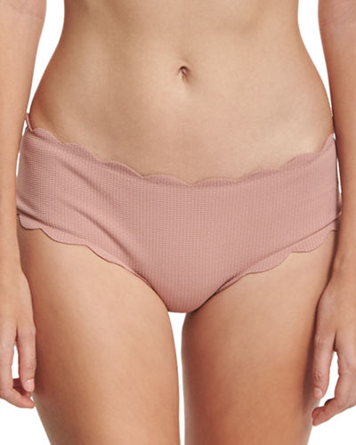 Marysia Spring Scalloped Boy-Cut Bikini Swim Bottom