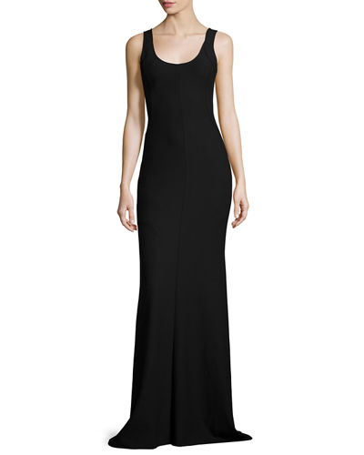 Ava Sleeveless Ponte Gown