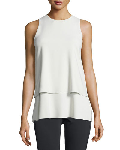Anastaza Sleeveless Layered Top