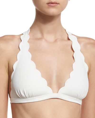 Marysia Spring Scalloped Halter Swim Top