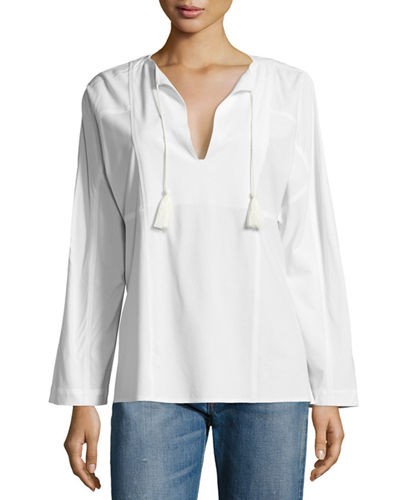V-Neck Tassel-Tie Festival Top