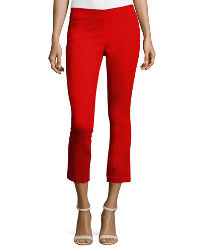 Calla Lillies Cropped Satin Pants