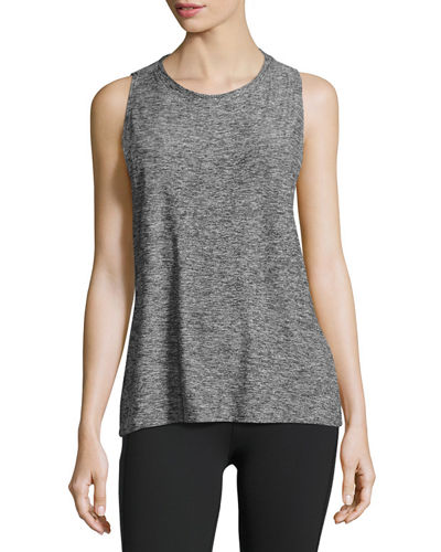 Featherweight Space-Dye Twisted Open-Back Tank