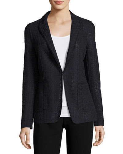 Rooney Crocheted Blazer Jacket
