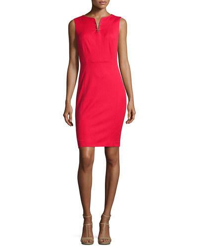 Natanya Sleeveless Sheath Dress