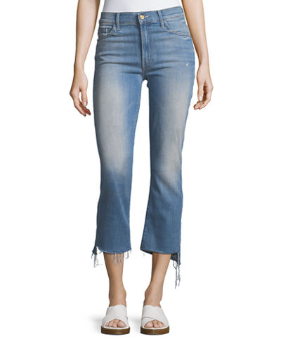 Insider Crop Jeans with Step Fray