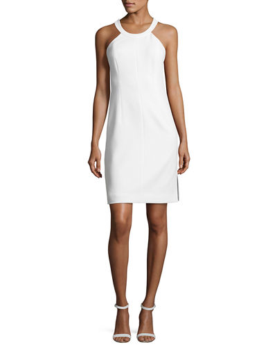 Elizabeth and James Imogen Cross-Back Ponte Sheath Dress