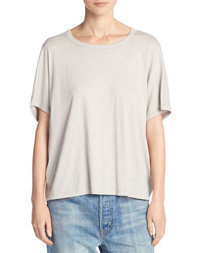 Cotton Jersey Rib-Back Tee