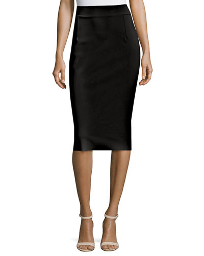 Lumi Stretch Jersey Pencil Skirt