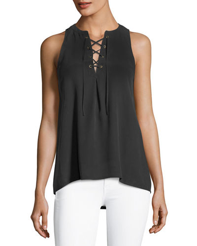 Deasia Lace-Up Tank Top
