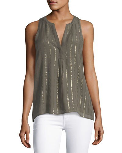 Aruna Silk Sleeveless Top