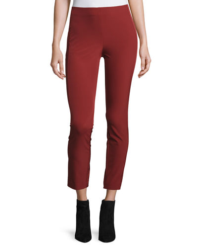Navalane Becker Skinny Pants, Black Cherry