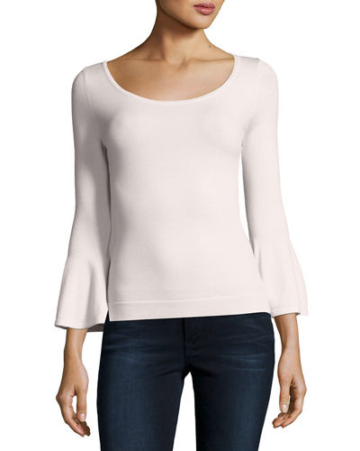 Baby Bell-Sleeve Stretch-Wool Pullover