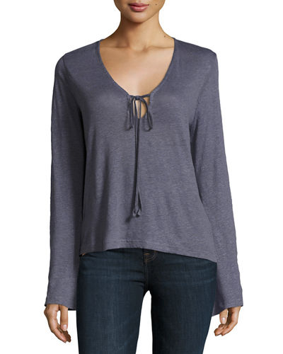 Constance Long-Sleeve Cotton Top