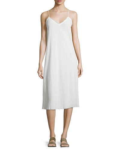 Gauze Camisole Slip Midi Dress