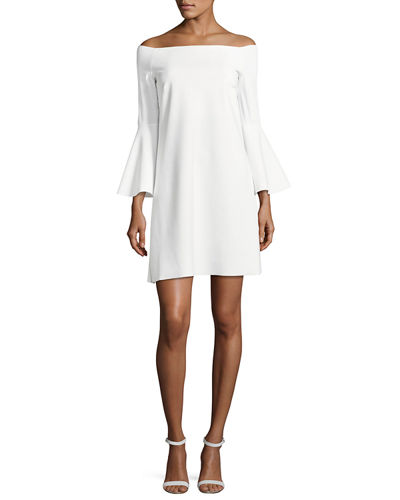 Nana Off-the-Shoulder Jersey Cocktail Dress