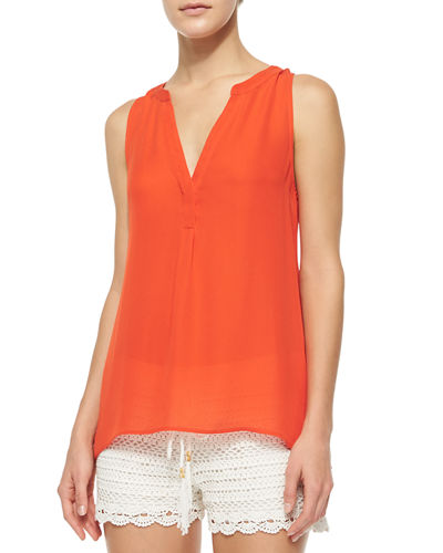 Aruna Sleeveless Silk Blouse