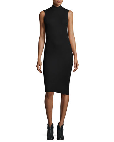 Modal Rib Sleeveless Jersey Dress