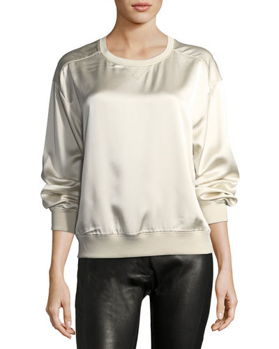 Massar Vintage Silk Satin Sweatshirt
