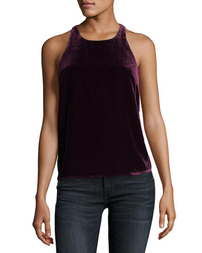 Brighton Sleeveless Velvet Racerback Top