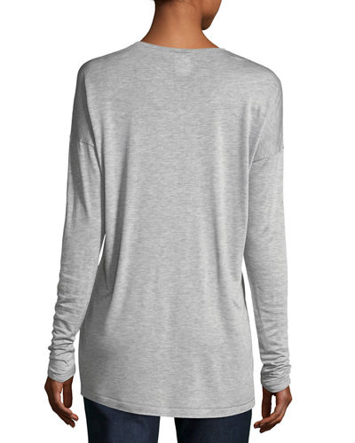 Long-Sleeve Crewneck Featherweight Jersey Top