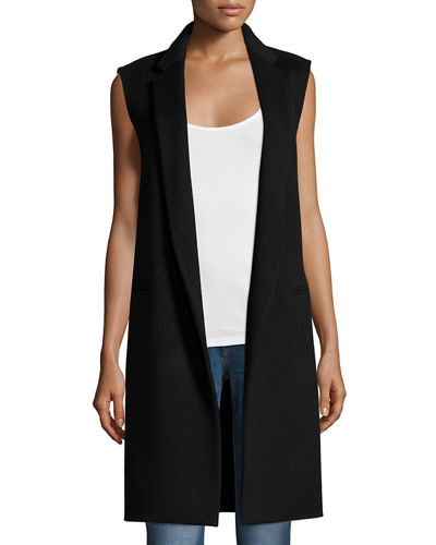 Essential Open-Front Long Vest
