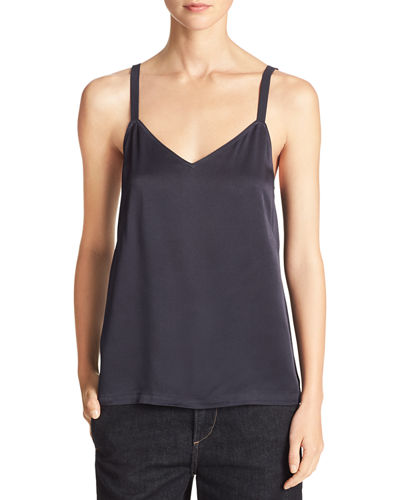 Wide-Strap Satin Camisole Top