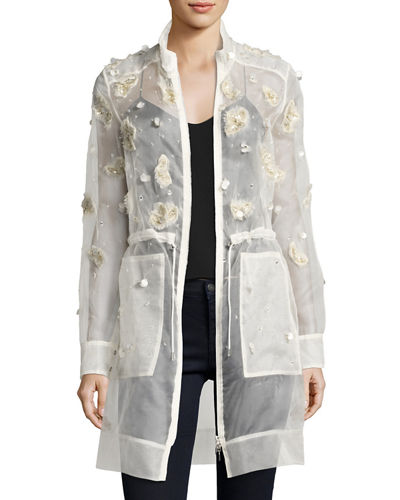Nicolette Sheer Silk Trench Coat