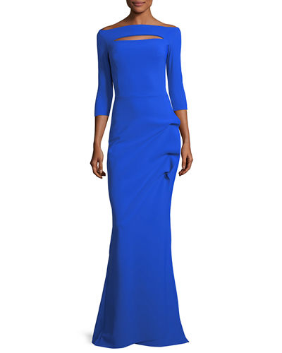 Kate Keyhole Gathered Trumpet Evening Gown