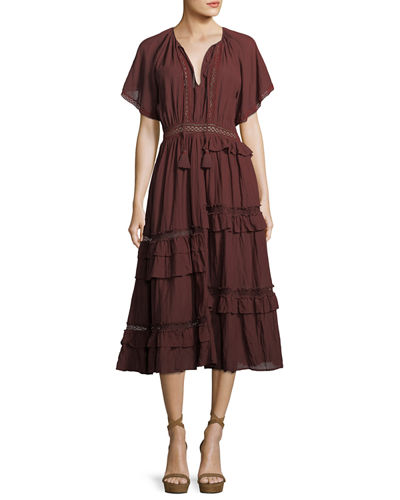 Adaline Tiered Midi Dress