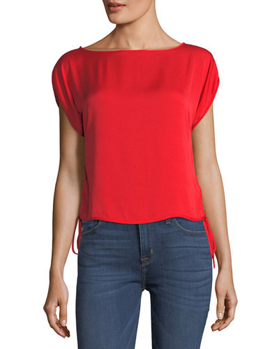 Lona Stretch Silk Top