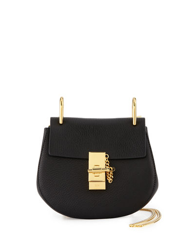 Drew Mini Shoulder Bag, Black