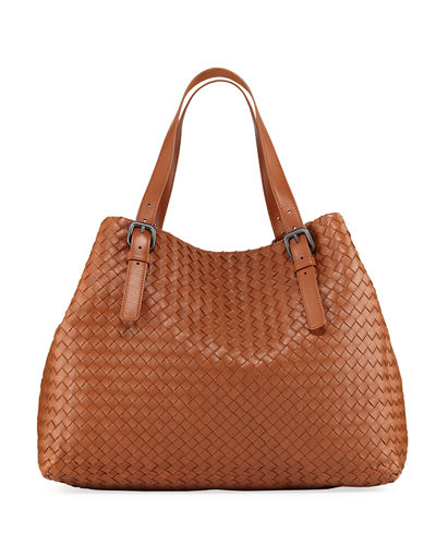 Large Woven A-Shape Tote Bag