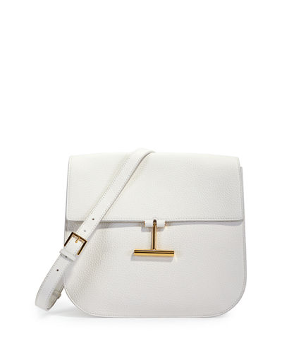 Tara Large Leather Crossbody Saddle Bag