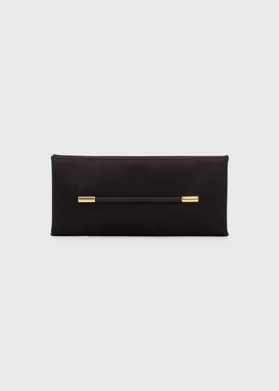 Satin Bar Clutch Bag