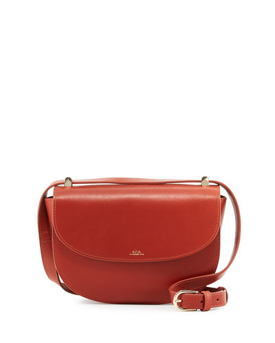 A.P.C. Geneve Leather Saddle Bag