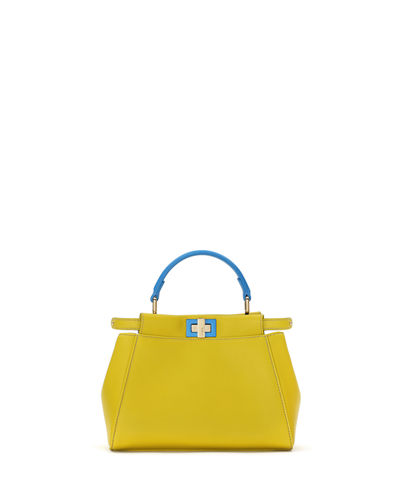 Peekaboo Mini Bicolor Satchel Bag