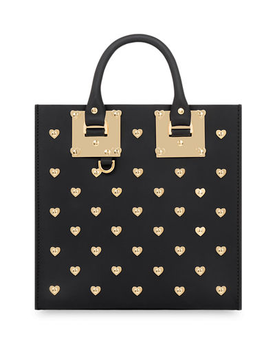 Square Albion Hearts Leather Box Tote Bag