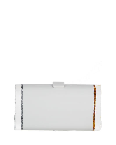 Lara Backlit Glitter Acrylic Clutch Bag