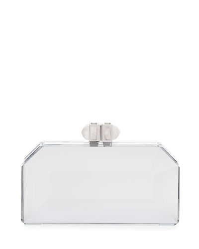 Faceted Box Clutch Bag