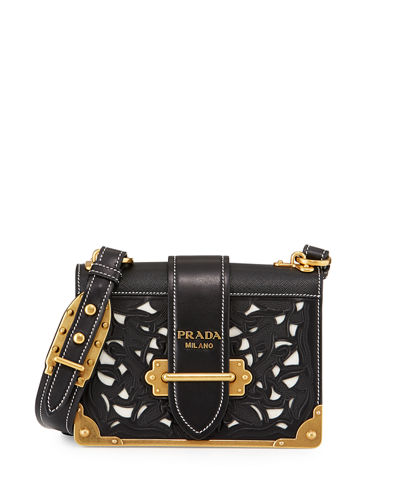 Laser-Cut Cahier Shoulder Bag