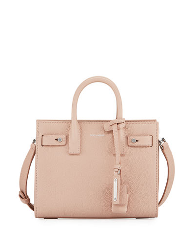 Saint Laurent Nano Carryall Leather Tote Bag
