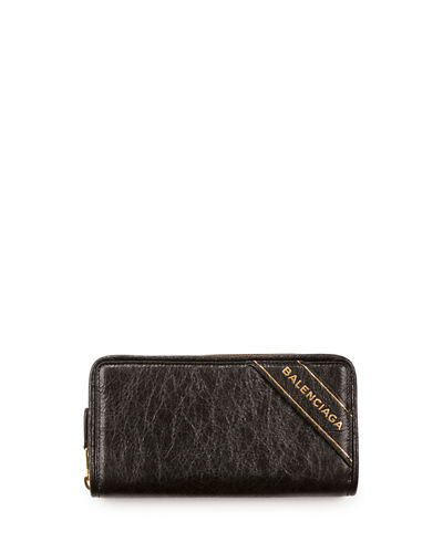 Balenciaga Blanket Arena Leather Continental Wallet